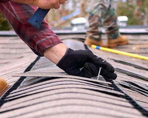 San Marcos roofing being repaired by an expert roofer