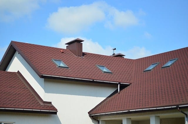 Red shingled cottage roof