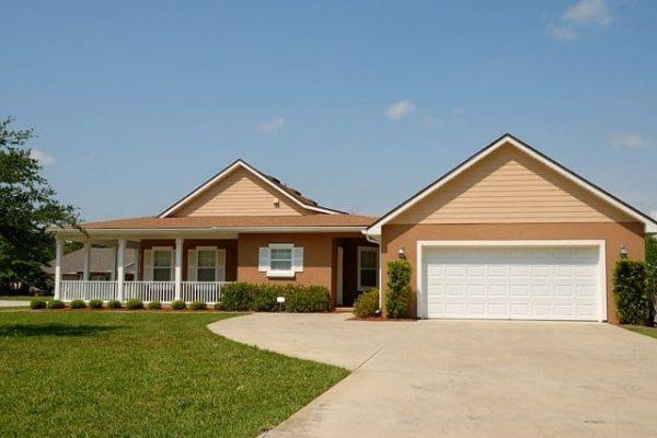 A home with a shingle roof.