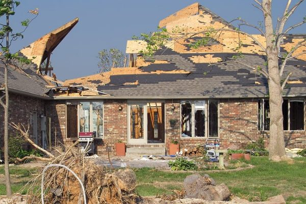 House Damaged By Big Storm