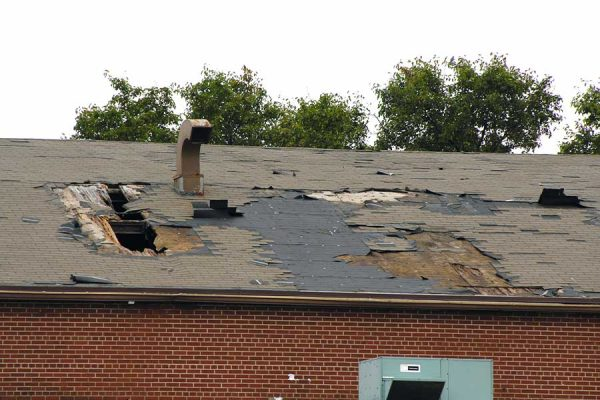 Roof Damage from Wind & Storm