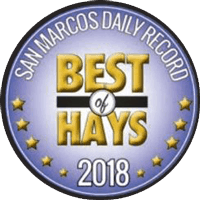 "San Marcos Daily Record ""Best of Hays"" 2018 seal"