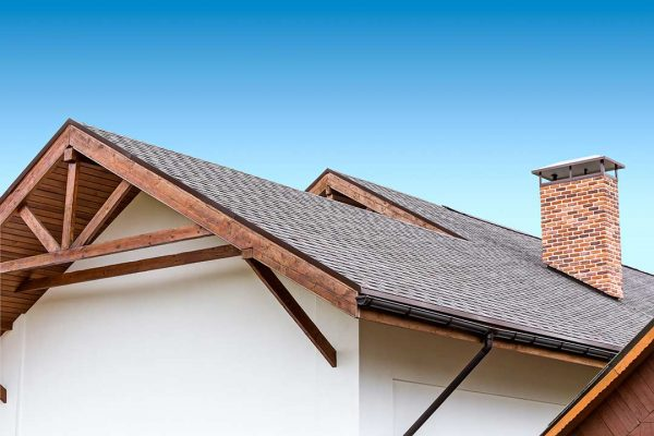 A home with a brand new roof