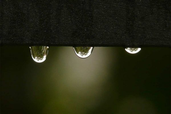 Water drops indicate a leaking roof.
