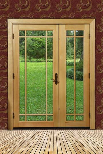 "an example of glass or ""French"" doors"