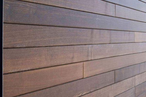 close-up of a home's siding