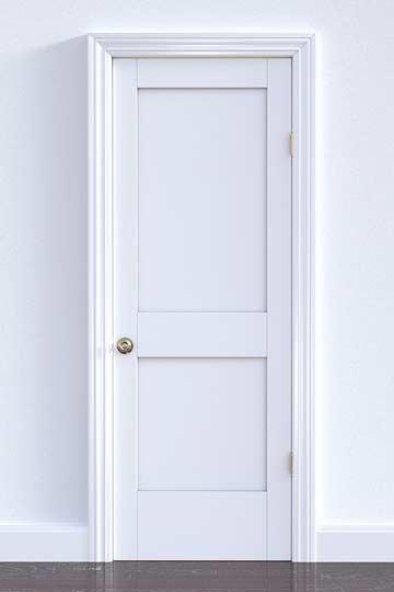 a white panel door