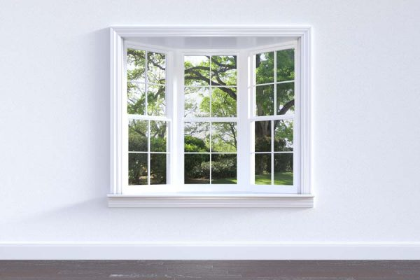 Interior view of a newly installed window