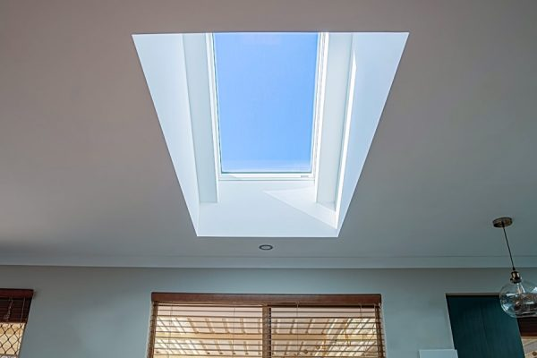 Interior house with skylight