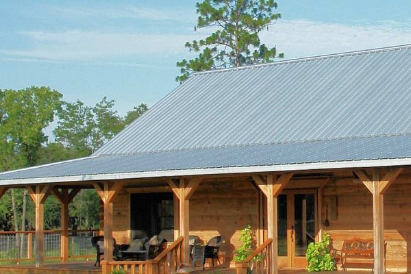 A home with a metal roofing system in Buda TX
