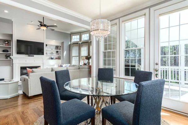 Well-lit home interior with new custom windows