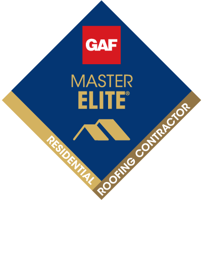 GAF Master Elite Residential Roofing Contractor seal along with the Triple Excellence Awards