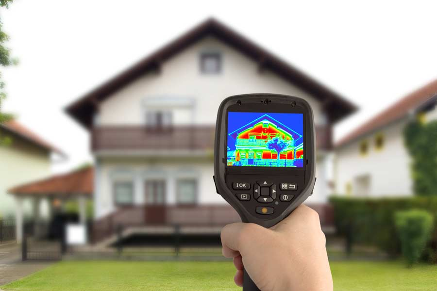 Thermal imaging of a house